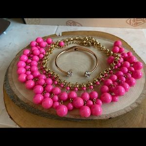 ❌FINAL❌Bundle KateSpade PinkBubble Necklace/Cuff